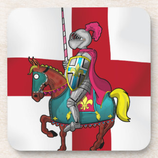King arthur medievil knight and horse beverage coaster