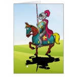 King Arthur medievil knight and horse Greeting Card
