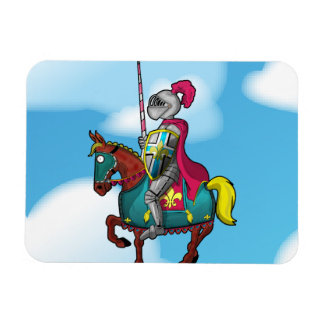 King arthur medievil knight and horse rectangular photo magnet
