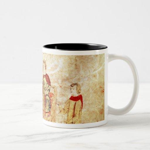 King Arthur on his Throne Surrounded Mug