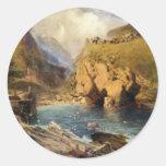 King Arthur's Castle, Off Tintagel Head Round Sticker