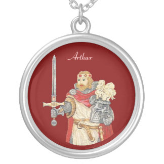 King Arthur Silver Plated Necklace