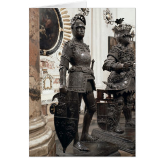King Arthur, statue from the tomb of Maximilian Card