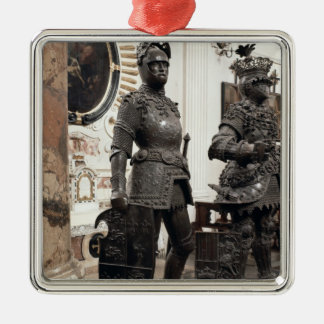 King Arthur, statue from the tomb of Maximilian Christmas Tree Ornament