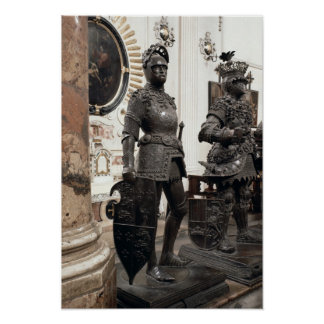 King Arthur, statue from the tomb of Maximilian Poster