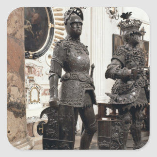 King Arthur, statue from the tomb of Maximilian Stickers