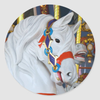 King Arthur's Carousel Horse Classic Round Sticker