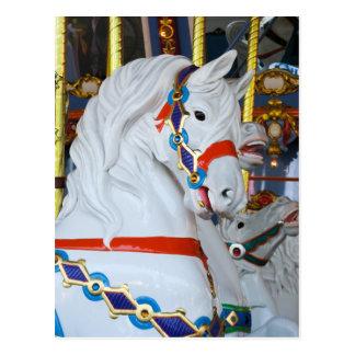 King Arthur's Carousel Horse Postcard