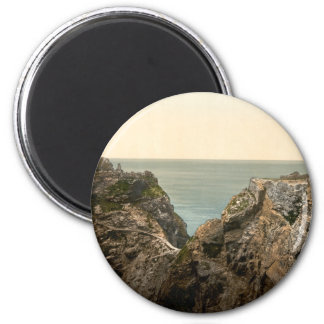 King Arthur's Castle II, Tintagel, Cornwall 2 Inch Round Magnet