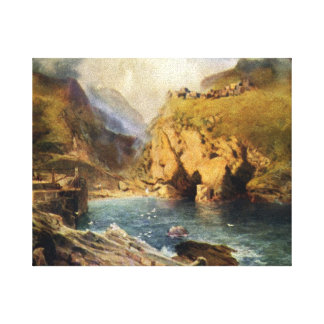 King Arthur's Castle in Camelot Stretched Canvas Print