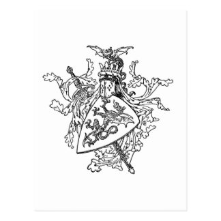 King Arthur's Coat of Arms Post Card