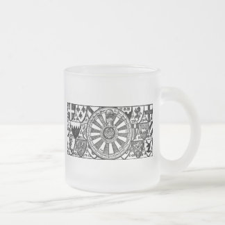 King Arthur's Table Frosted Glass Coffee Mug