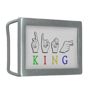 KING  ASL FINGERSPELLED BELT BUCKLE