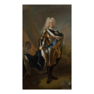 King Augustus II of Poland, before 1730 Poster