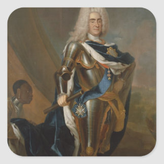 King Augustus II of Poland, before 1730 Square Sticker