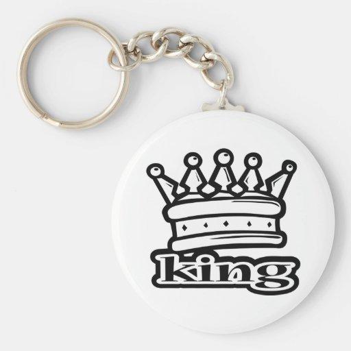 King Basic Round Button Keychain