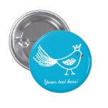 King Bird Blue Button