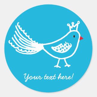 King Bird Blue Sticker