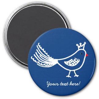 King Bird Dark Blue Magnet