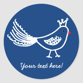 King Bird Dark Blue Sticker