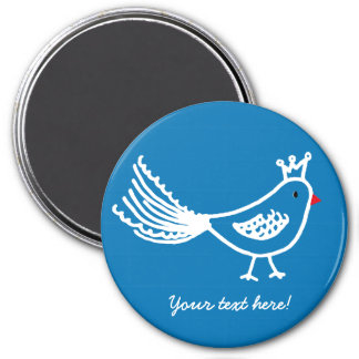 King Bird Mid Blue Magnet
