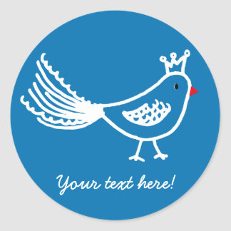 King Bird Mid Blue Sticker