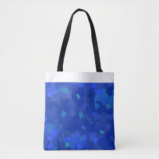 king-blue examined carrying bag with white edge