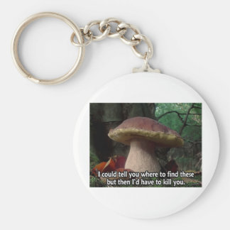 King Bolete - I'd Have to Kill You Basic Round Button Keychain