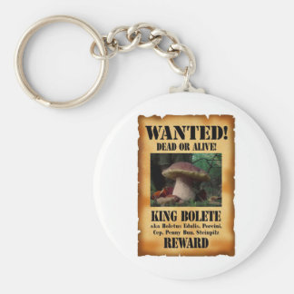 King Bolete - Wanted Dead or Alive Basic Round Button Keychain