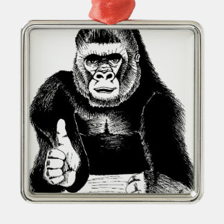 King Bongo Oh Yes! Square Metal Christmas Ornament