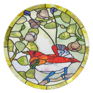 King Bop Stained Glass Mosaic Nouveau Dinner Plate