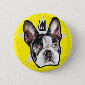 King Boston Terrier Cute Pinback Button