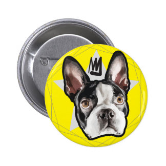 King Boston Terrier Cute Pinback Button