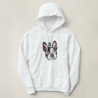 King Boston Terrier Womens Hoodie