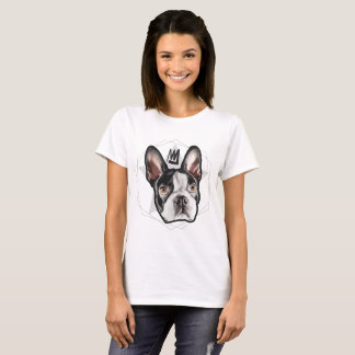 King Boston Terrier Womens T-Shirt