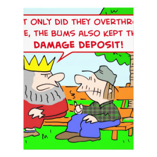 king bums kept damage deposit overthrow flyer