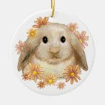 King Bunny Rabbit Christmas Ornament