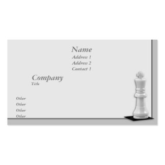 King Business Card Template