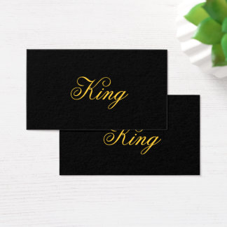King Business Cards