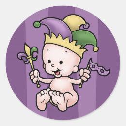 King Cake Baby Classic Round Sticker