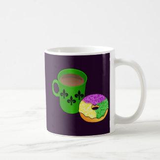 King Cake Donut and Coffee Coffee Mug