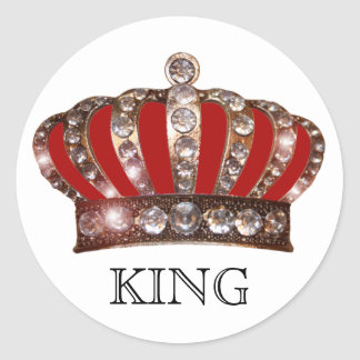 """KING"" (can Personlize) Classic Round Sticker"