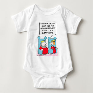 King can't use benign neglect for everything. baby bodysuit