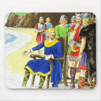 King Canute (c.995-1035) from 'Peeps into the Past Mouse Pad
