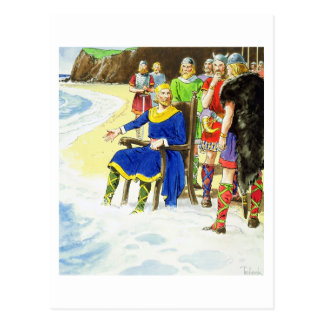 King Canute (c.995-1035) from 'Peeps into the Past Postcard