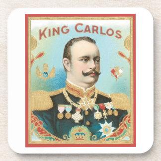 King Carlos Vintage Cigar Label Coaster