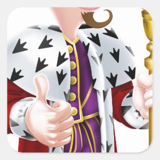 King Cartoon Square Sticker