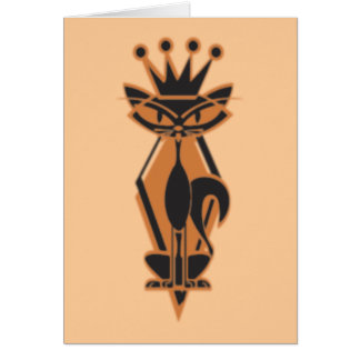 King Cat Greeting Cards