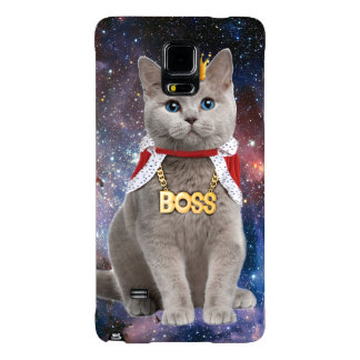 king cat in the space galaxy note 4 case