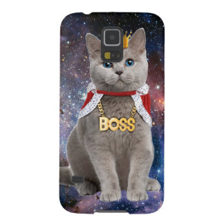king cat in the space galaxy s5 cover